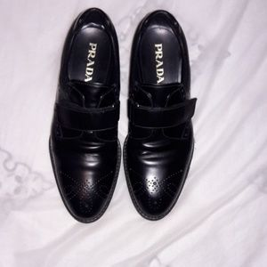 Prada milano shoes black eur:8 us:9